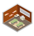 isometric spa resort room massage equipment design vector image vector image