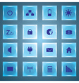 laptop and PC indication glass buttons eps10 vector image vector image