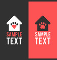 logo template home for pet pets paw vector image vector image
