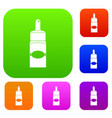medical drops set color collection vector image vector image
