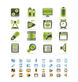 mobile phone performance and office icons vector image vector image