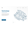 modern wireless technology isometric vector image vector image