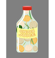 Onion juice Juice from fresh vegetables Onions in vector image