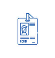 personal pass line icon concept personal pass vector image