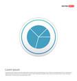 pie graph icon - white circle button vector image