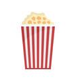 popcorn box icon flat style vector image vector image