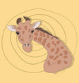 portrait a giraffe on a colored background vector image vector image