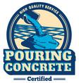 pouring concrete logo vector image vector image