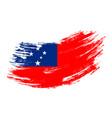 samoan flag grunge brush background vector image vector image