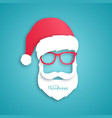santa claus with red hat and glasses vector image vector image