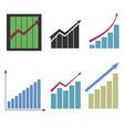 set different graphs vector image