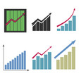 set of different graphs vector image