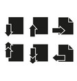 set of pages icons paper last next vector image vector image