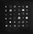 set symbol a for letters chalk vector image vector image