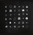 set symbol a for letters chalk vector image