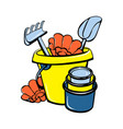 shovelrake toy icon cartoon style vector image