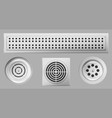 shower drainage holes with stainless covers set vector image vector image