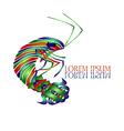 Shrimp logo vector image vector image