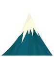 snowy mountain icon vector image