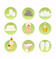 spa and wellness icon set natural cosmetics vector image vector image