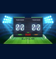 stadium electronic sports scoreboard with soccer vector image