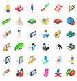 statue icons set isometric style vector image vector image