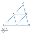 the task of finding the perimeter of a triangle vector image vector image