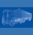 truck with semitrailer vector image vector image