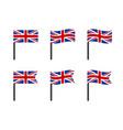 united kingdom flag icons set national symbol vector image