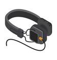 isometric headphones vector image