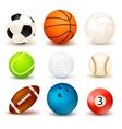 Ball Icon Set vector image
