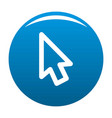 cursor retro element icon blue vector image