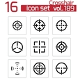 balck crosshair icons set vector image