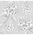 luxury hydrangea vector image