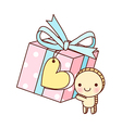 A gift box vector image vector image
