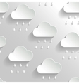Abstract Background with Paper Rainy Clouds