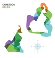 Abstract color map of Cameroon vector image