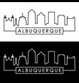 albuquerque skyline linear style editable file vector image vector image
