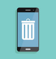 and icon of smartphone and mobile vector image vector image