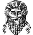 antique drama mask vector image