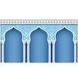 arcade in oriental style vector image vector image