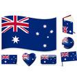 australian flag wave book circle pin button vector image vector image