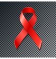 Awareness World Cancer Day red ribbon vector image vector image