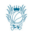 basketball emblem tattoo vector image vector image