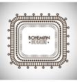 bohemian bacground design vector image