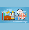building of business strategy concept in vector image