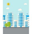 Buildings with trees vector image