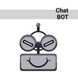 cartoon robot face cunning cute emotion chat bot vector image vector image