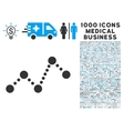 Chart Icon with 1000 Medical Business Symbols vector image vector image