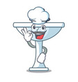 chef kitchen sink on stely modern character vector image